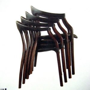 silla onda apilada design juan montesa